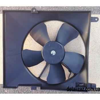 Вентилятор радиатора в сборе с дифузором Aвeo с кондиционером. Корея 96536666