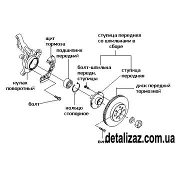 Болт передней ступицы колеса Авео, Лачетти. GM 94501734