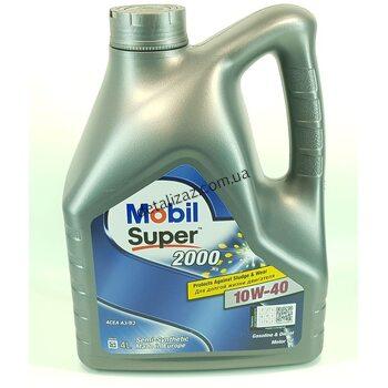 Масло моторное Mobil Super 2000 полусинтетика 10W-40 4л