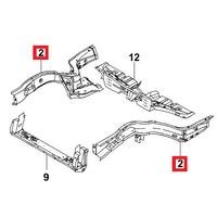 Лонжерон переднего пола левый Ланос ЗАЗ TF69Y0-8403293