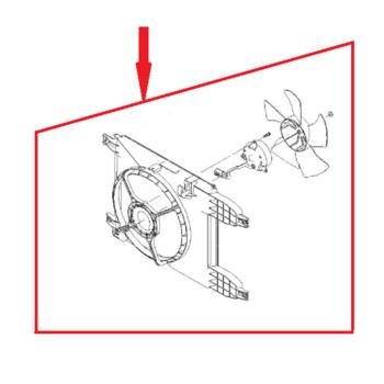 Вентилятор радиатора в сборе с диффузором Aвeo T-255 с кондиционером GM 95950465