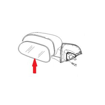 Стекло наружного зеркала левое механическое Лачетти GM 96545744