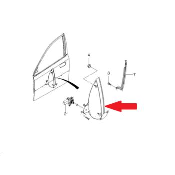 Стеклоподъемник электро. передний правый Лачетти OE 96548081