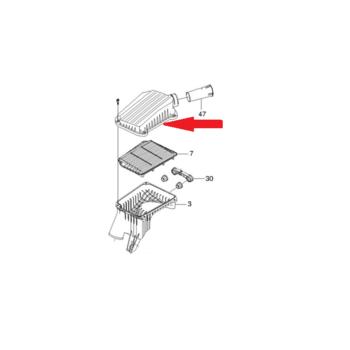 Корпус воздушного фильтра верхняя часть Лачетти GM 96553447