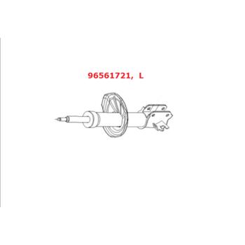 Амортизатор GM передний левый газо-масляный Лачетти (универсал). 96561721
