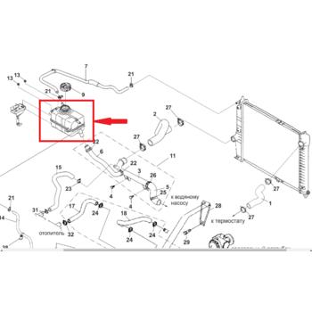 Бачок расширительный Aвeo T250 HNH 96815542, 96930818