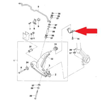Скоба заднего сайлентблока рычага передней подвески Сенс Ланос ЗАЗ TF69Y0-2904645